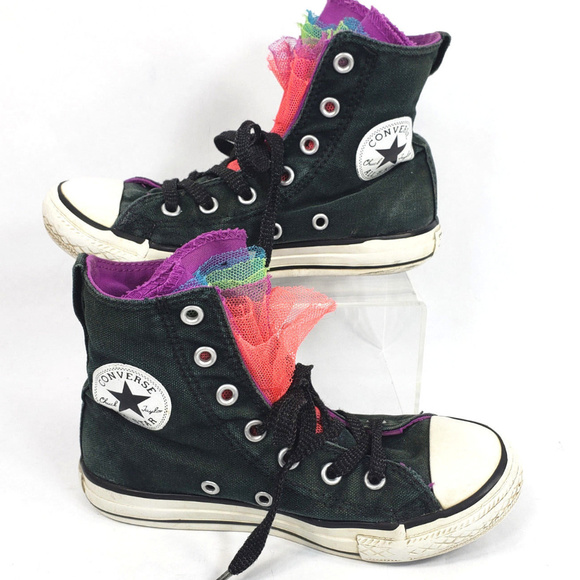 fc169c615571 Converse Other - Girls Converse All Star Chuck Taylor High Tops 13Y